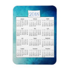 2018 Mystical Turquoise  Mandala Calendar Magnet