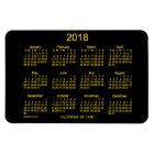 2018 Neon Gold Calendar by Janz 4x6 Magnet