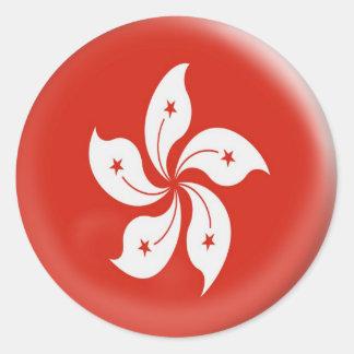 20 small stickers Hong Kong flag