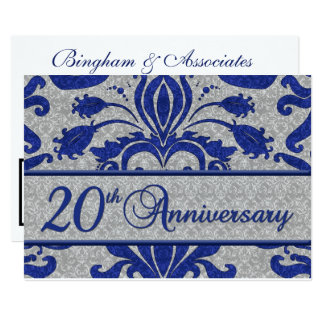 20th Anniversary Business Announcement Blue