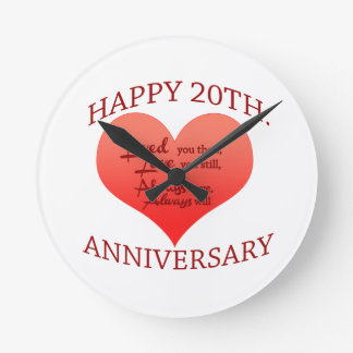 20th. Anniversary Clock