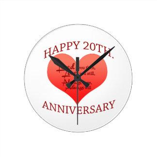 20th. Anniversary Round Clock