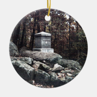 20th Maine Memorial on Little Round Top Gettysburg Christmas Ornament