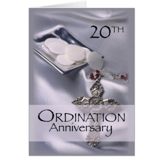 20th Ordination Anniversary Congratulations, Hosts Greeting Card