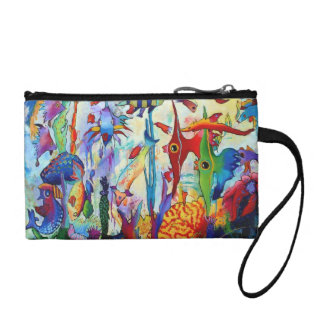 2155 Fish in Our Garden Key Coin Clutch Coin Wallets