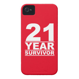 21 year survivor iPhone 4 Case-Mate cases