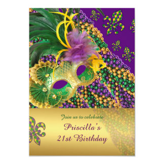 21st Birthday invitation,21st,Masquerade,Venezia Card
