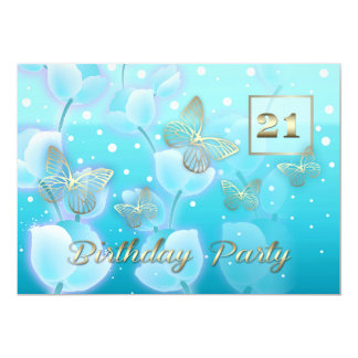 21st Birthday Party Custom Invitations