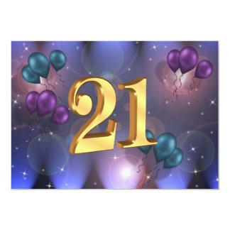 21st Birthday Party Invitation balloons
