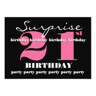 Surprise 21st birthday invitations zazzle nz 21st surprise birthday party invitation template stopboris Images