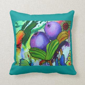 2238 Butterflies detail cushion - Aqua
