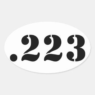 .223 OVAL STICKER