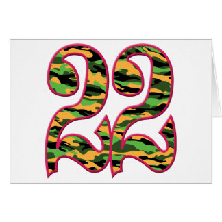 22 Age Camo Greeting Card