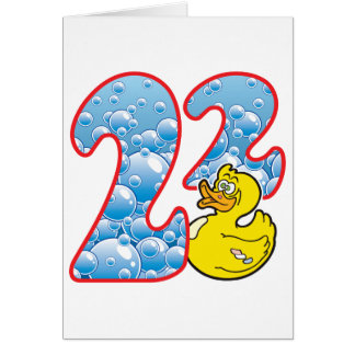 22 Age Duck Greeting Card