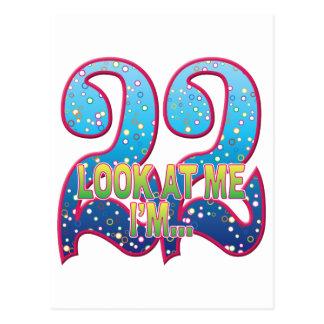 22 Age Rave Look Postcard