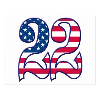 22 Age USA Postcard
