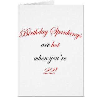 22 Birthday Spanking Greeting Card