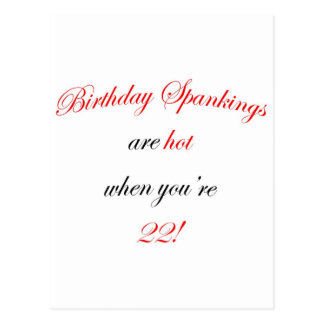 22 Birthday Spanking Postcard