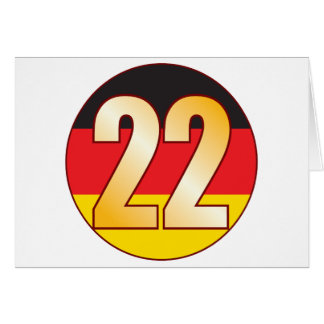 22 GERMANY Gold Greeting Card