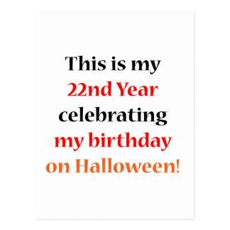 22 Halloween Birthday Postcard