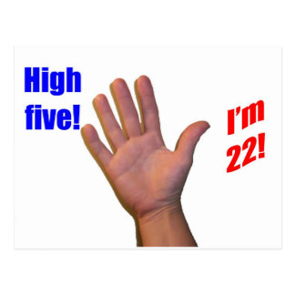 22 High Five! Post Cards