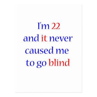 22 never gone blind postcards
