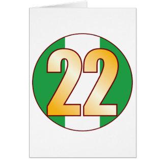 22 NIGERIA Gold Greeting Card