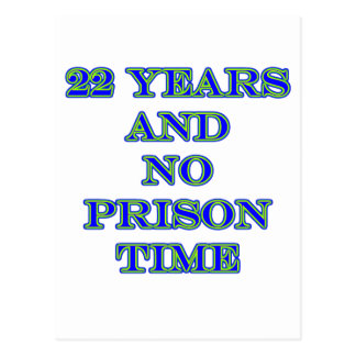 22 no prison time post cards