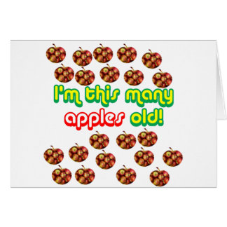 22 This Many Apples Old Greeting Card