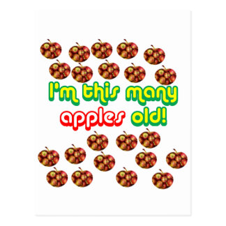 22 This Many Apples Old Postcard