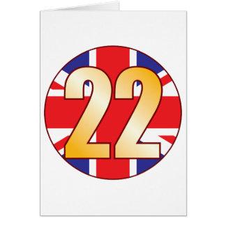 22 UK Gold Greeting Card