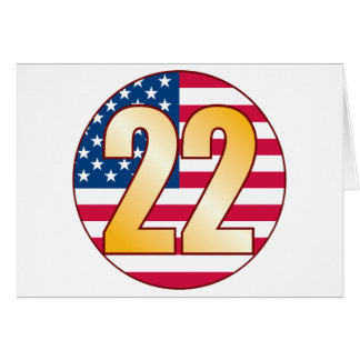 22 USA Gold Greeting Card