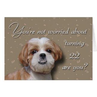 22nd Birthday Dog Greeting Card