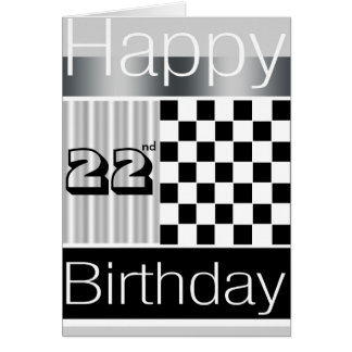 22nd Birthday Greeting Card
