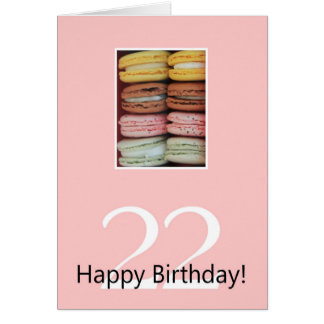 22nd Birthday Macaron Card