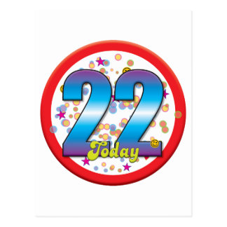 22nd Birthday Today v2 Postcard