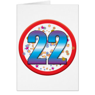 22nd Birthday v2 Greeting Card