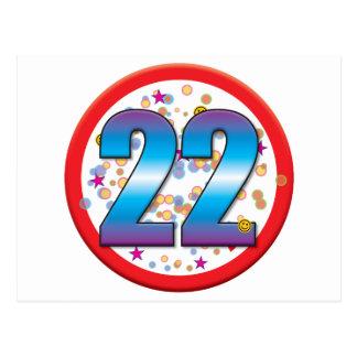 22nd Birthday v2 Postcard