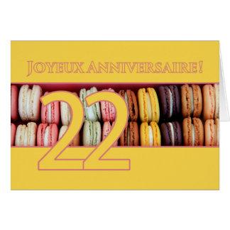 22nd French Birthday Macaron-Joyeux Anniversaire! Greeting Card