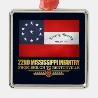 22nd Mississippi Infantry Christmas Ornament