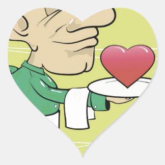 22waiter heart sticker