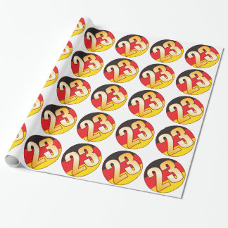 23 GERMANY Gold Wrapping Paper