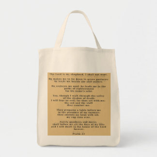 23rd Psalm Highlighted Totebag Tote Bags