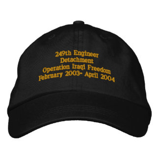 249th Engineer Detachment, Delaware National Guard Embroidered Hat