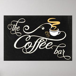 24x36 Chalkboard Coffee Bar Sign Poster