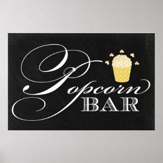 24x36 Chalkboard Popcorn Bar Sign Poster