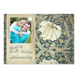 25 anniversary photo invitations