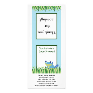 25 Lollipop Topper Rain-forest Jungle Animal Custom Rack Card