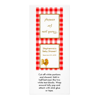 25 Lollipop Topper Red Barn Farm Animals Rack Card Design