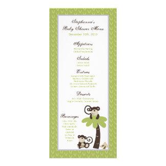 25 Menu Cards Monkey Time Zoo Animal Rack Card